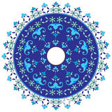 Ottoman motifs design series with fifty. Studied composition with Ottoman motifs Royalty Free Stock Photography