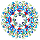 Ottoman motifs design series with five version. Versions of Ottoman decorative arts, abstract flowers Stock Image