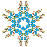 Ottoman motifs design series with forty-eight. Studied composition with Ottoman motifs Royalty Free Stock Photos