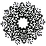 Ottoman motifs design series with forty-five. Studied composition with Ottoman motifs Stock Image
