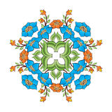 Ottoman motifs design series with forty-seven. Studied composition with Ottoman motifs royalty free illustration