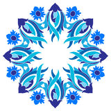Ottoman motifs design series with nine version. Versions of Ottoman decorative arts, abstract flowers Royalty Free Stock Photos