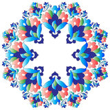 Ottoman motifs design series with nineteen version. Versions of Ottoman decorative arts, abstract flowers Stock Photo