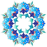 Ottoman motifs design series with one version. Versions of Ottoman decorative arts, abstract flowers Royalty Free Stock Image