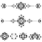 Ottoman motifs design series with seventeen. Versions of Ottoman decorative arts, abstract flowers Stock Image