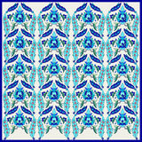 Ottoman motifs design series seventy one. Turkish Ottoman style with blue and white tiles royalty free illustration