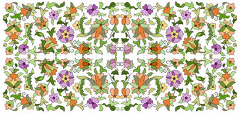 Ottoman motifs design series seventy six. Old motifs created with an artistic background stock illustration
