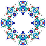 Ottoman motifs design series seventy three. Versions of Ottoman decorative arts, abstract flowers Royalty Free Stock Photography