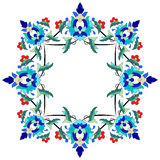Ottoman motifs design series seventy two. Versions of Ottoman decorative arts, abstract flowers Stock Photography