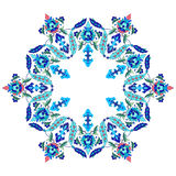 Ottoman motifs design series seventy. Versions of Ottoman decorative arts, abstract flowers Stock Images
