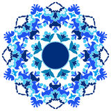 Ottoman motifs design series with sixteen version. Versions of Ottoman decorative arts, abstract flowers Stock Image