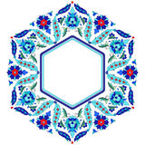 Ottoman motifs design series sixty eight. Versions of Ottoman decorative arts, abstract flowers Stock Image