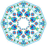 Ottoman motifs design series sixty five. Versions of Ottoman decorative arts, abstract flowers royalty free illustration