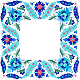 Ottoman motifs design series sixty seven. Versions of Ottoman decorative arts, abstract flowers Royalty Free Stock Photo
