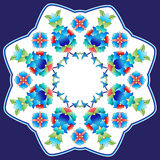 Ottoman motifs design series sixty six. Versions of Ottoman decorative arts, abstract flowers Royalty Free Stock Image