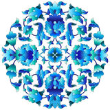 Ottoman motifs design series sixty three. Versions of Ottoman decorative arts, abstract flowers Stock Images