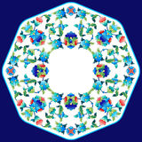 Ottoman motifs design series sixty two. Versions of Ottoman decorative arts, abstract flowers Royalty Free Stock Photo