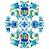 Ottoman motifs design series sixty. Versions of Ottoman decorative arts, abstract flowers Stock Photos