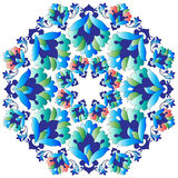 Ottoman motifs design series with thirteen version. Versions of Ottoman decorative arts, abstract flowers Royalty Free Stock Image