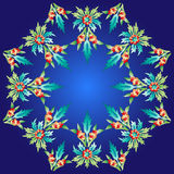 Ottoman motifs design series with twenty-four. Series of patterns designed using the old Ottoman motifs Stock Photo