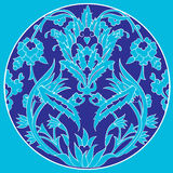 Ottoman motifs design series with twenty one linear. Series of patterns designed by taking advantage of the former Ottoman Royalty Free Stock Photo