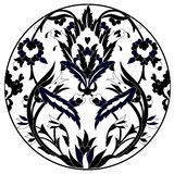 Ottoman motifs design series with twenty one. Series of patterns designed by taking advantage of the former Ottoman Royalty Free Stock Photos