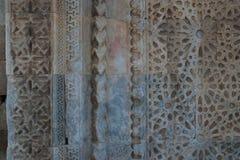 Ottoman period ornament. Ottoman relief ornament on the facade of Caravanserai Sultan Han near Kayseri close-up Stock Photo