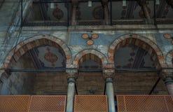 Ottoman Pillars in mosque Royalty Free Stock Photos
