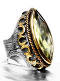 Ottoman silver ring. Stock Photo