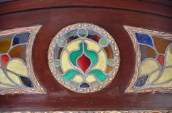 Ottoman art of stained glass. In summer palaces of the Khedive glasswork usage Stock Photo