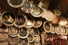 Ottoman style copper decorative object in Grand Bazaar, Istanbul. Stock Photography