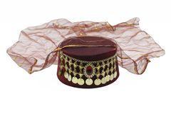 Ottoman style fez for womens. Women`s turkish hat royalty free stock photos