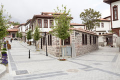 Ottoman style renovated houses Stock Photo