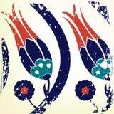 Ottoman style tulip background. Vintage style ottoman style tulip background Stock Photos