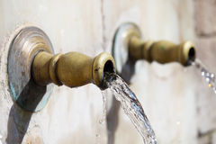 Ottoman style water taps Stock Image