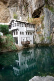Ottoman tekija, Blagaj, Bosnia-Herzegovina. Tekija is an old dervish house, This tekija is located at the Buna River close to Mostar Royalty Free Stock Images