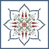 Ottoman tile art for invitation cards and seramics Royalty Free Stock Photo