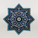 Ottoman tile. Center ceiling tile on the porch of the tile museum, istanbul, turkey royalty free stock photos