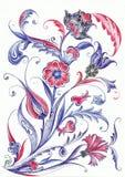 Ottoman Tile Motif Design. Royalty Free Stock Photo
