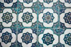 Ottoman Tiles. Beautiful ancient ottoman tiles on a background Stock Photos