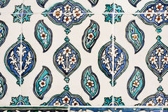 Ottoman Tiles. Beautiful ancient ottoman tiles with floral patterns Royalty Free Stock Photos