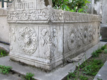 Ottoman tomb in Eyup, Istanbul. Stock Images