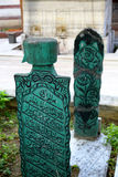 The Ottoman Tombstone. The Ottoman Historical Tombstone in Istanbul Royalty Free Stock Photos