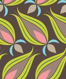 Ottoman Tulip Seamsless Pattern Royalty Free Stock Photography
