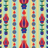 Ottoman tulip stripe seamless pattern Royalty Free Stock Images