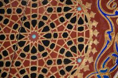 Ottoman Turkish art with geometric patterns. On surfaces Royalty Free Stock Photography
