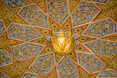 Ottoman Turkish art with geometric patterns. On surfaces Stock Photography