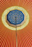 Ottoman Turkish art with geometric patterns. In view royalty free stock images