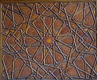 Ottoman Turkish art with geometric patterns. In view stock image