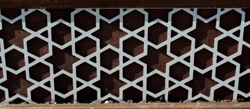 Ottoman Turkish  art with geometric patterns. On wood Royalty Free Stock Image